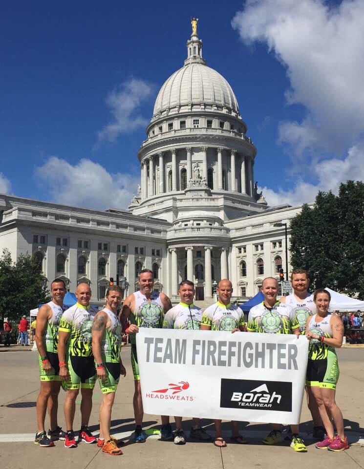 Team Firefighter taking on Ironman Wisconsin