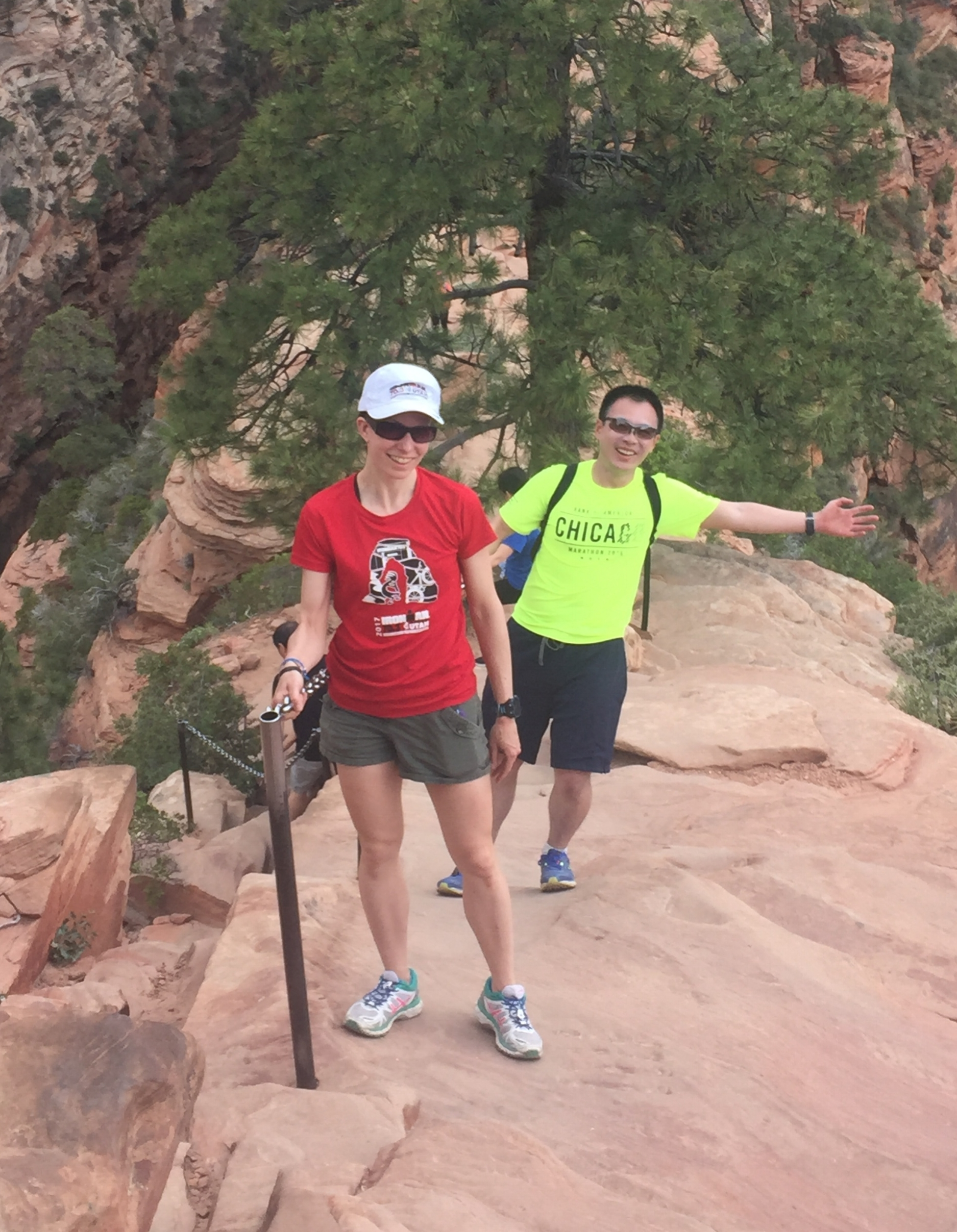Post-race fun at Zion National Park