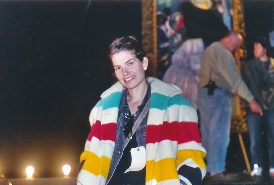Valerie on the set of the origonal Gilmore Girls