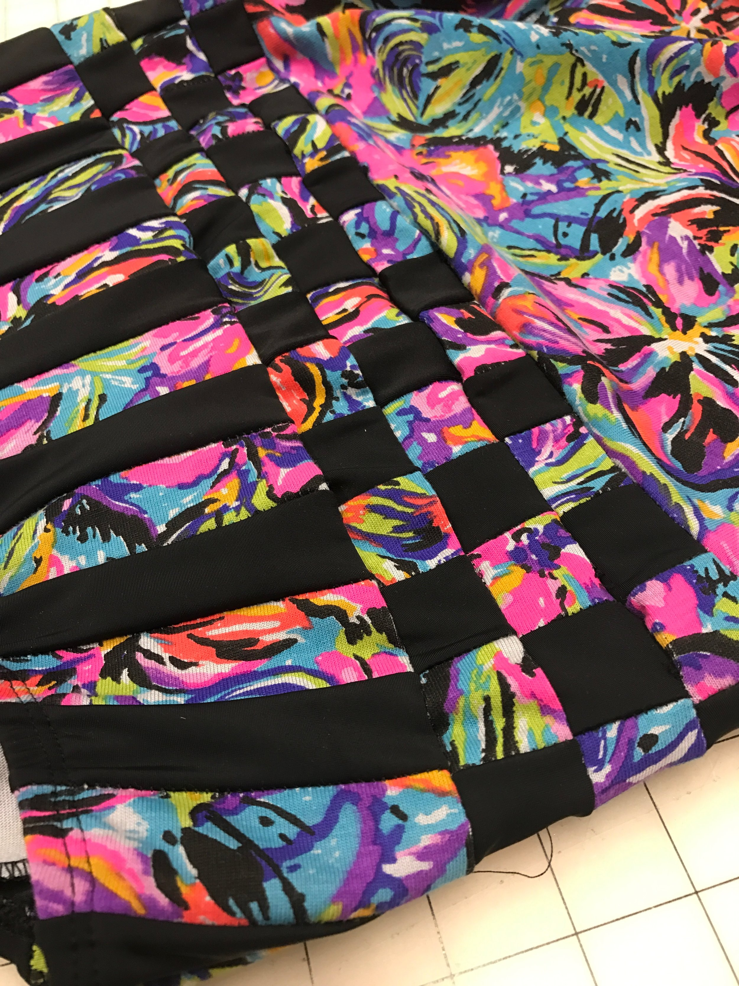 Just one example of a custom fabric I created for a leotard.