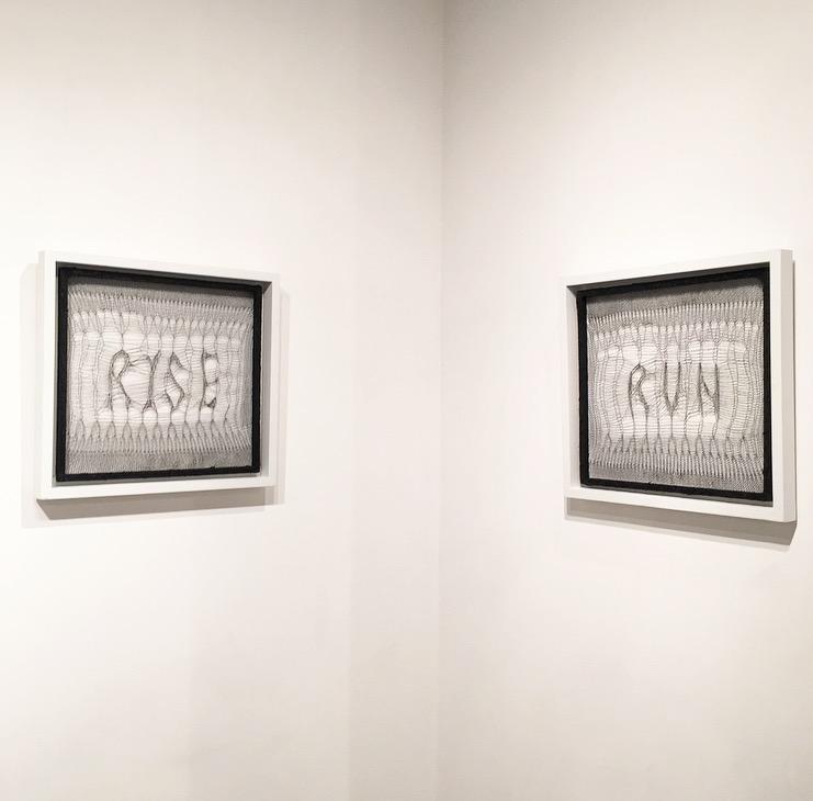 Gabrielle Duggan - Rise/Run (diptych)