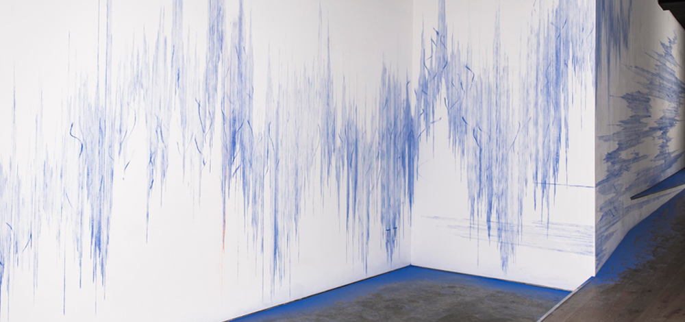 How to Sever Muscle,2016,Construction grade blue and orange chalk and snapline tool,Dimensions variable