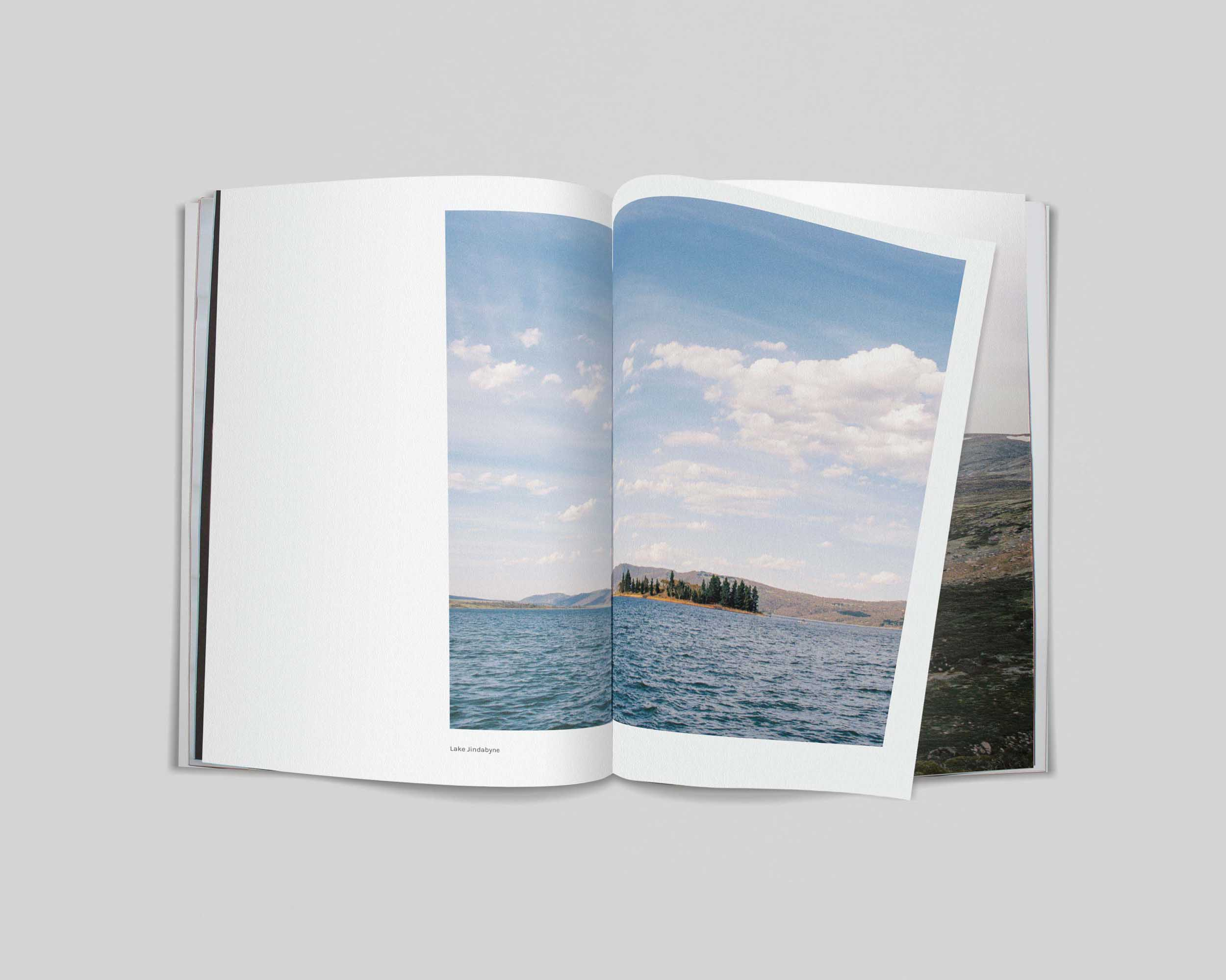 High Summer   High Summer is a photobook featuring photographs taken around the Snowy Mountains region during the summer season, exploring mountains, landmarks, townships and dams.