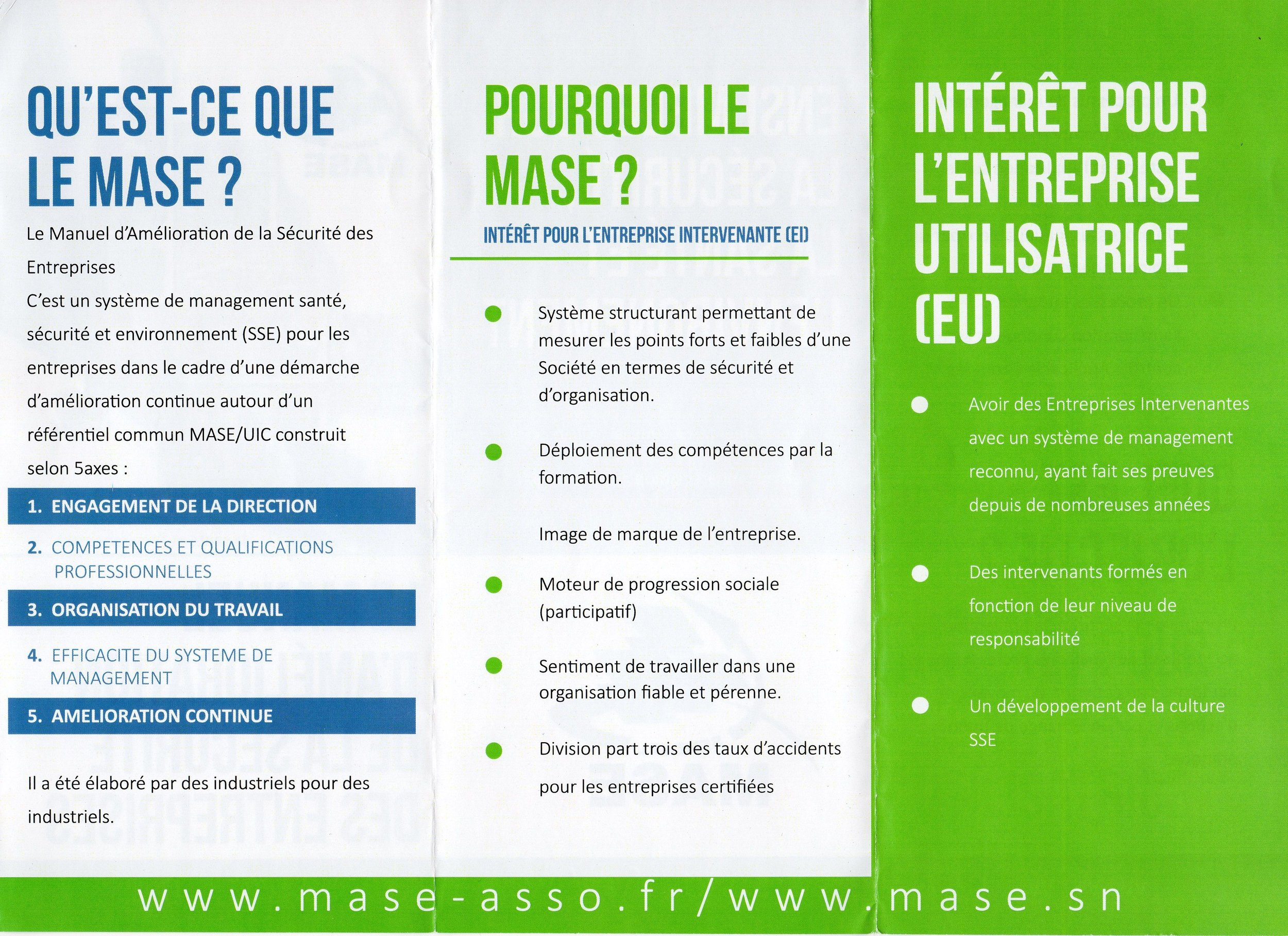 Le Mase S Implante Au Senegal Credo