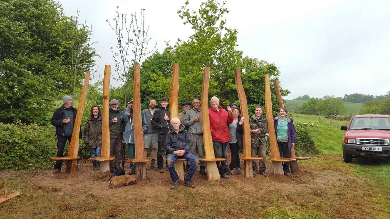 Sharpham bench project