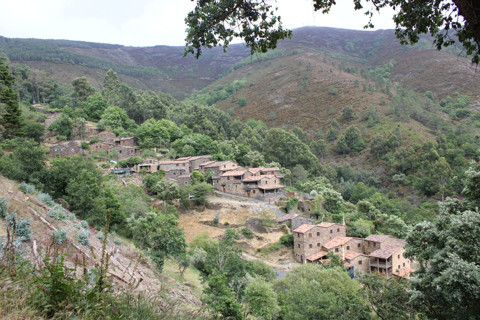 Cerdeira - a traditional schist village nestled in the mountains surrounding Lousa.