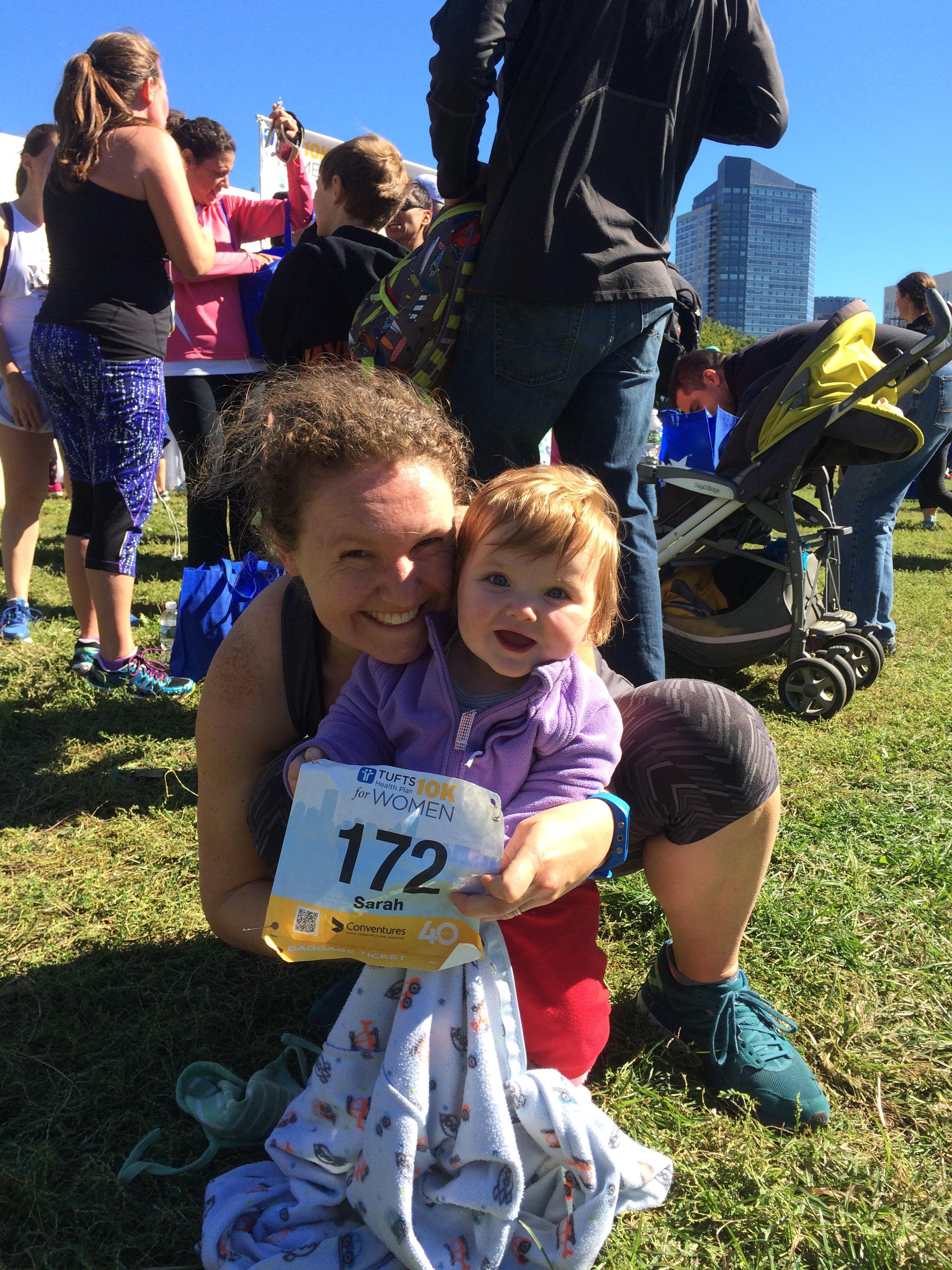 Me and my daughter Rosalind, age 13 months, on October 10th 2016. I hope this race stays in our family for many more generations.