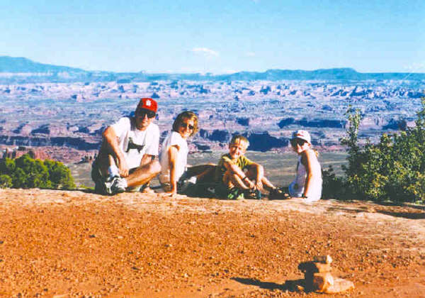 We did eventually get a great family photo in Canyonlands National Park. Christmas card 1997!