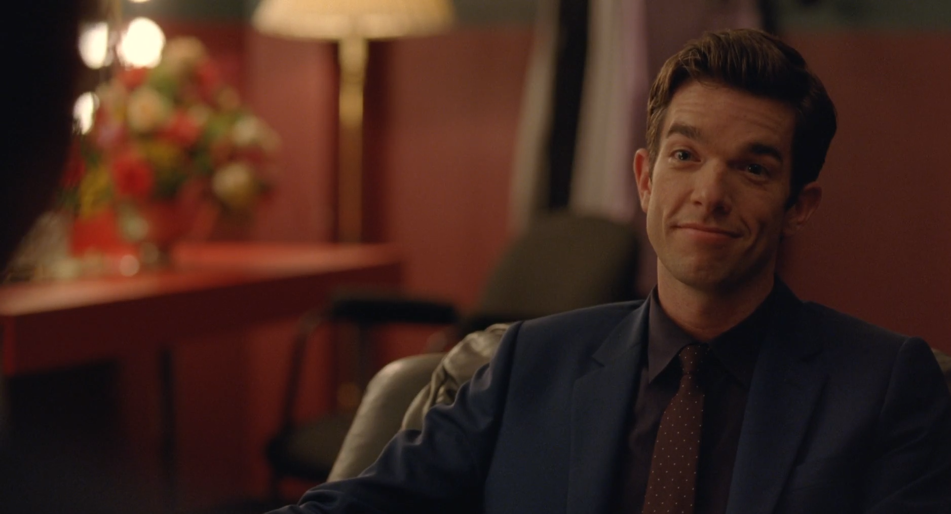 "The low-key threat in Mulaney's raised eyebrows here are perfect. ""As you know and as you'll tell people, I'm not a jerk."""