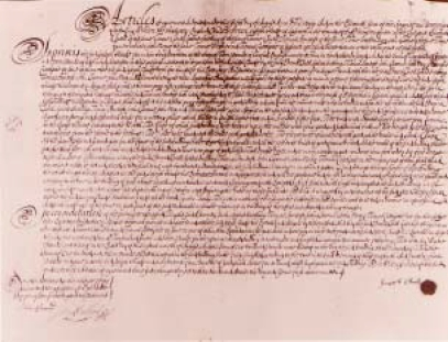 The Original Contract for Building, Signed 5 August 1699.