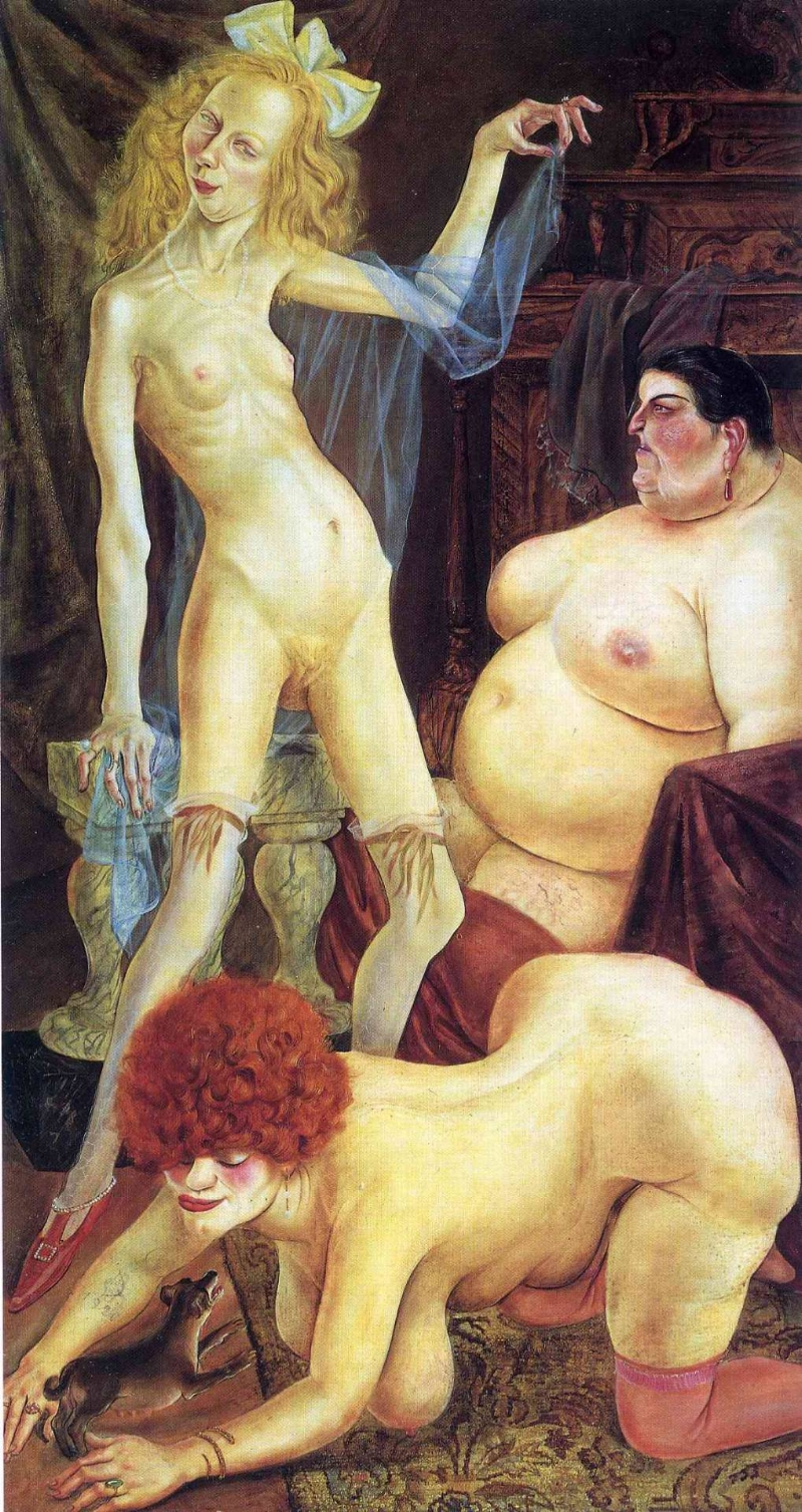 Three Wenches - Otto Dix, 1926