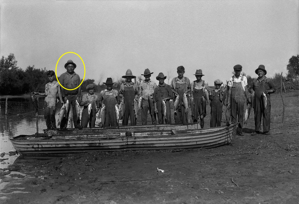 Jasper Saunkeah  in Oklahoma, 1930s. See a photo gallery from Saunkeah's time in Oklahoma  here .