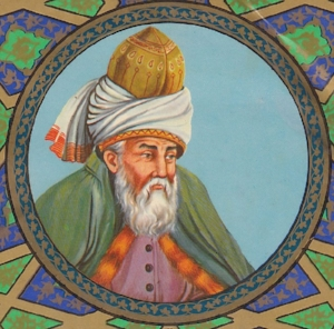 A common depiction of Rumi.