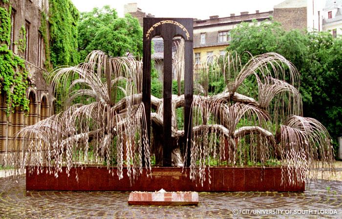 Tree of Life Holocaust memorial, Budapest.