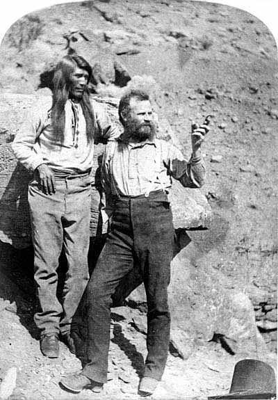 John Wesley Powell on expedition of the arid west.