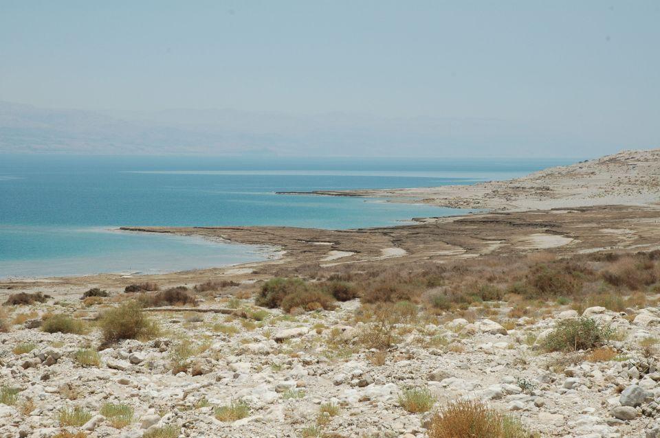 Along the Dead Sea.