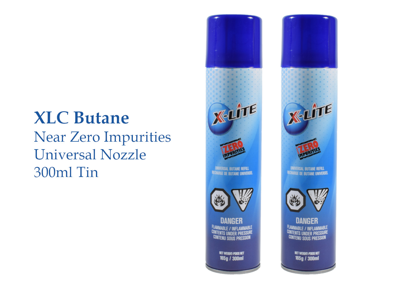 Universal Butane - Using premium ultra-clean butane in turbo lighters and torches maintains the quality of the lighter.Most fuels have contaminants introduced from Manufacturing. By removing lubricants from the welding process and laminating key components of the valve assembly, X-Lite has delivered a premium, near ZERO IMPURITIES butane that keeps your flame burning clean.