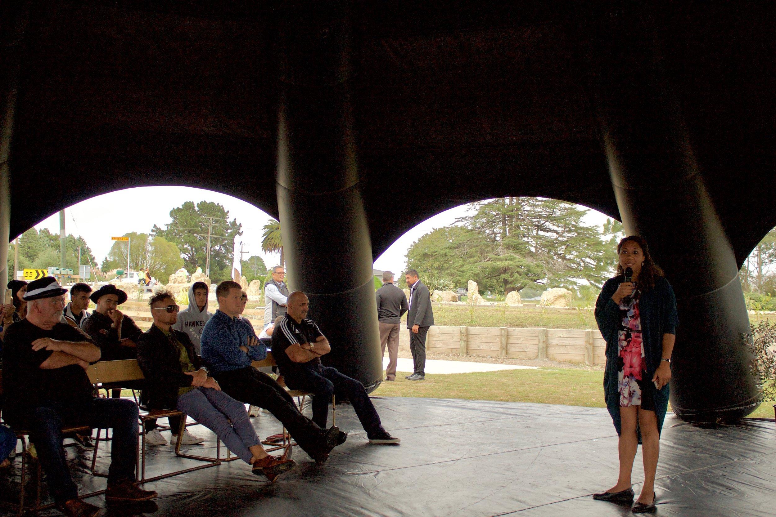 Hinewai Hawaikirangi explains the days programme