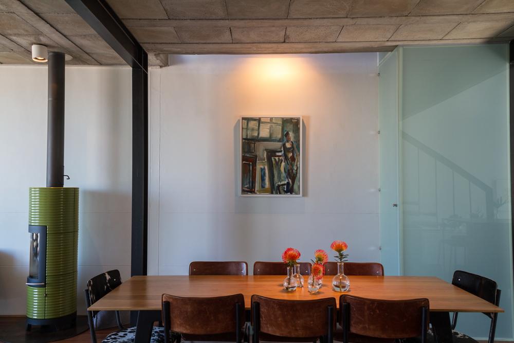 Open plan kitchen precast concrete