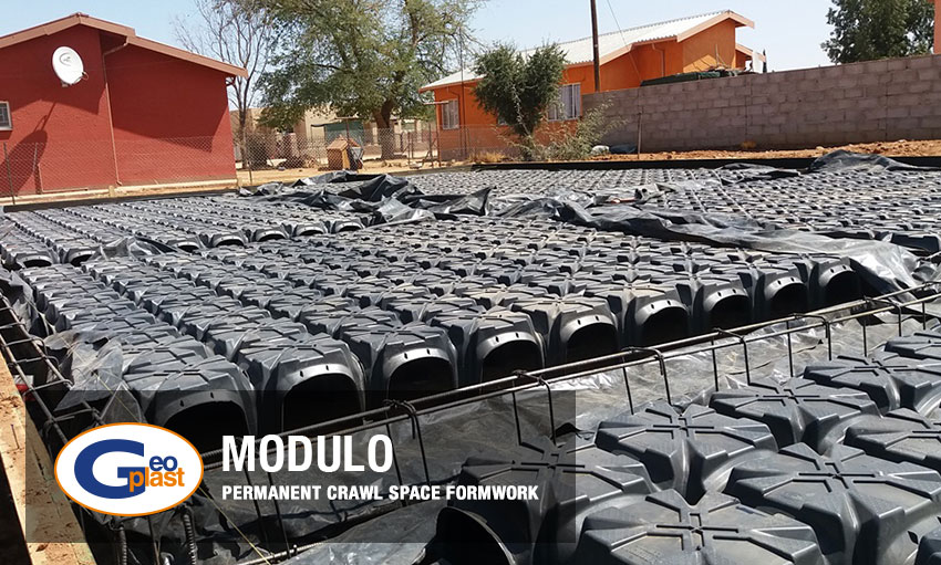 Modulo permanent crawl space by Geoplast