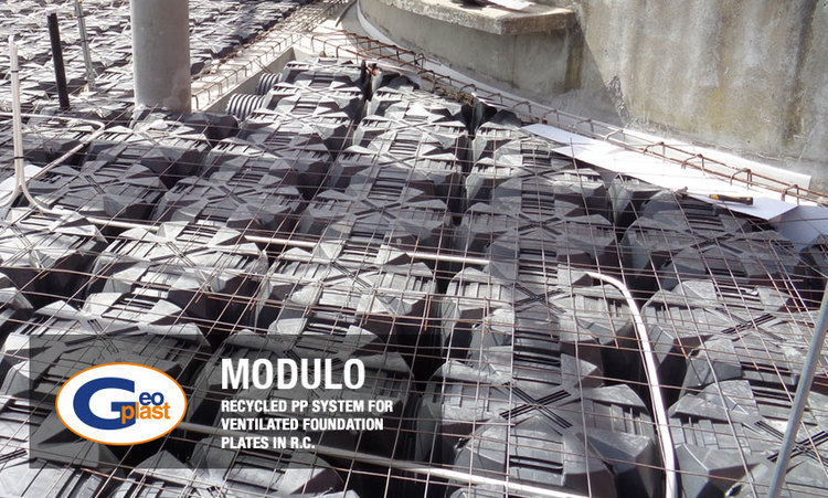 Modulo recycled system for ventilated foundations