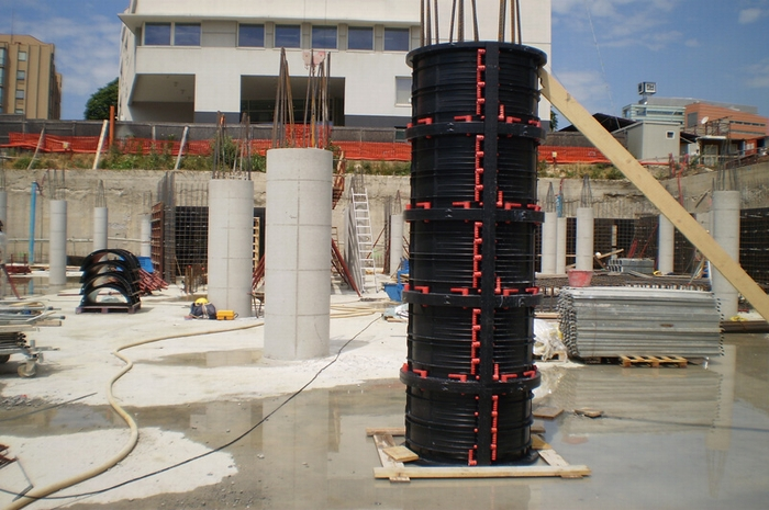 Geotub Column formwork. Source:    Geoplast.it