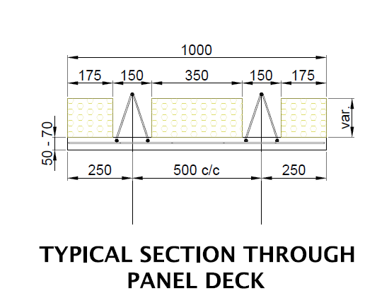 Panel-deck typical section