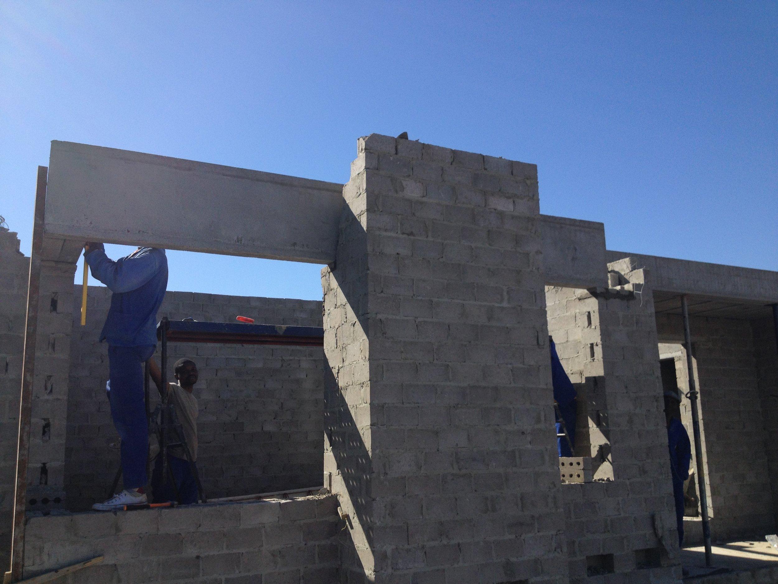 Eaves beam installation