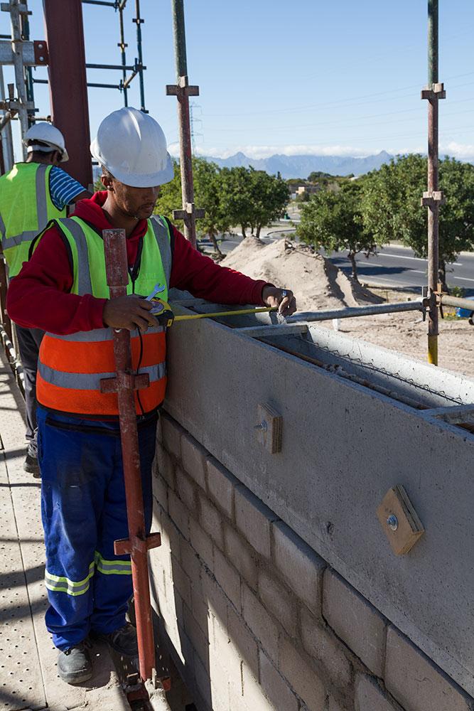 Cobute precast beam installation. Picture by David Harris
