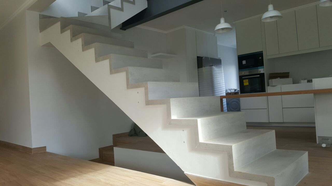 The Cobute staircase with its luxurious finish