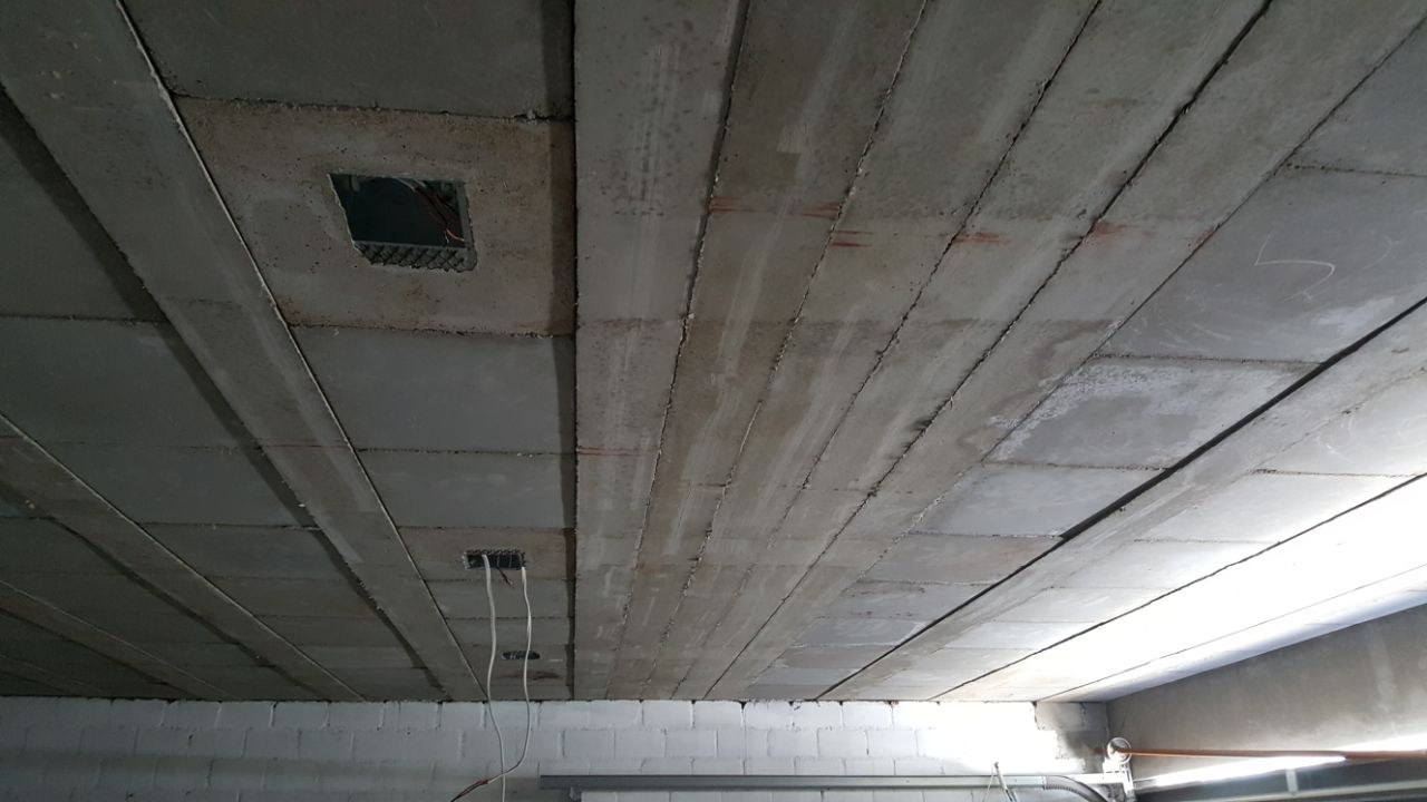 Perforated panels and beam-in slab.