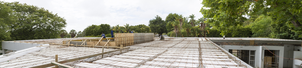 Panoramic view of works on site at Sher Residence. Picture by   David Peter Harris