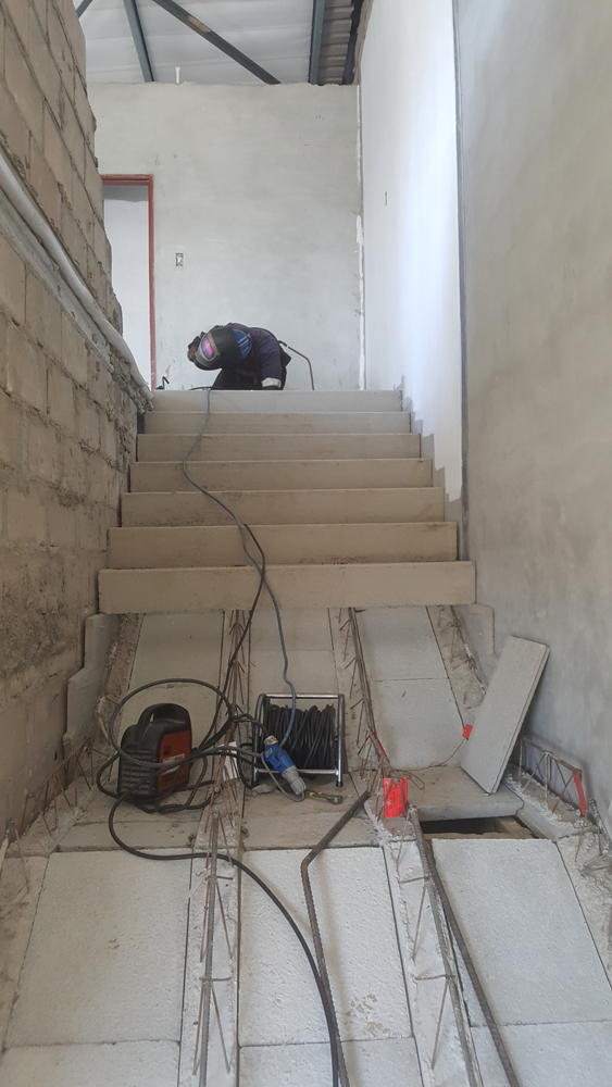 Installation of the Cobute precast stairs at Rivergate