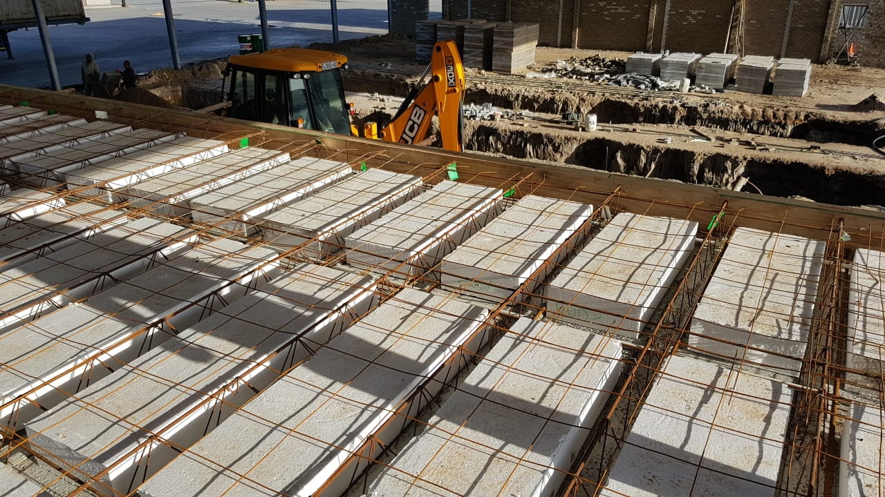 Cobute precast decking during inspection.