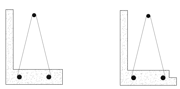 The system can include a lip (right image) to ease the installation of a panel.
