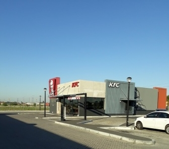 The completed structure at KFC