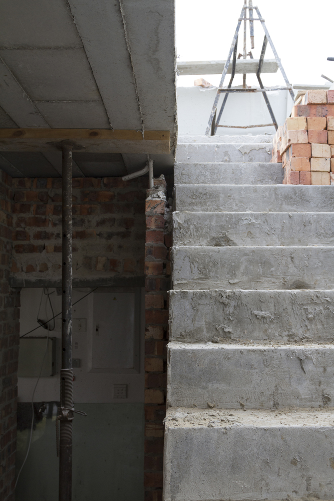 Concrete stair by Cobute after the concrete pour