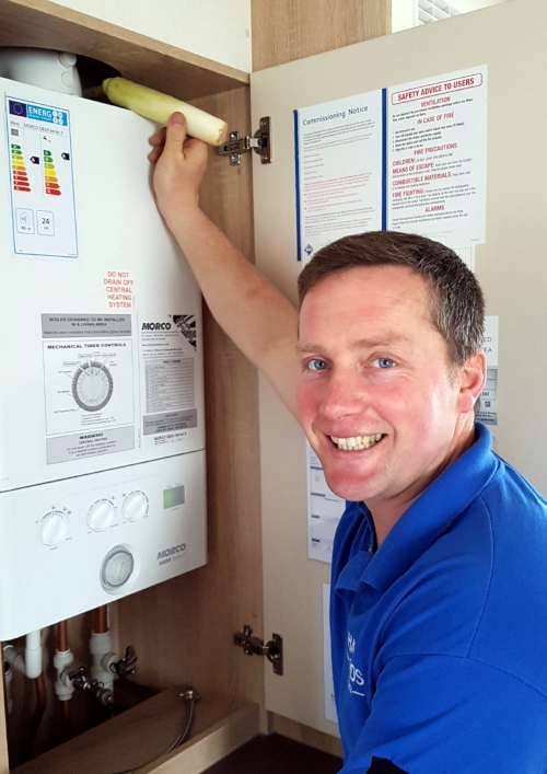 """Kelvin still finds the odd """"Leek"""" on the boiler from time to time.  (Look what he's holding!)"""