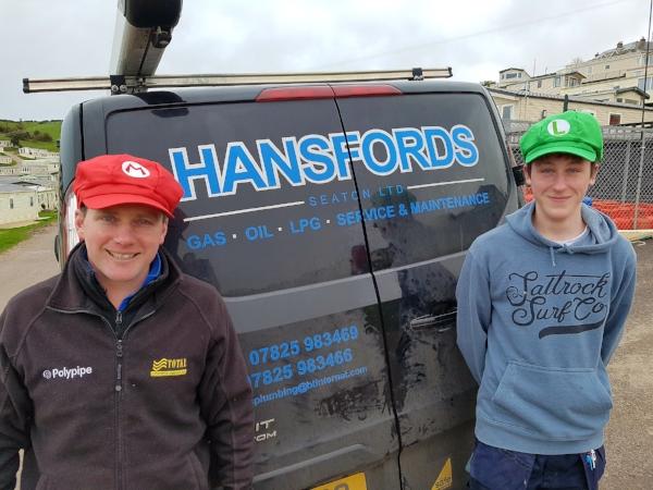 Kelvin Gurmin our gas engineer and his apprentice Matt Thurgood.