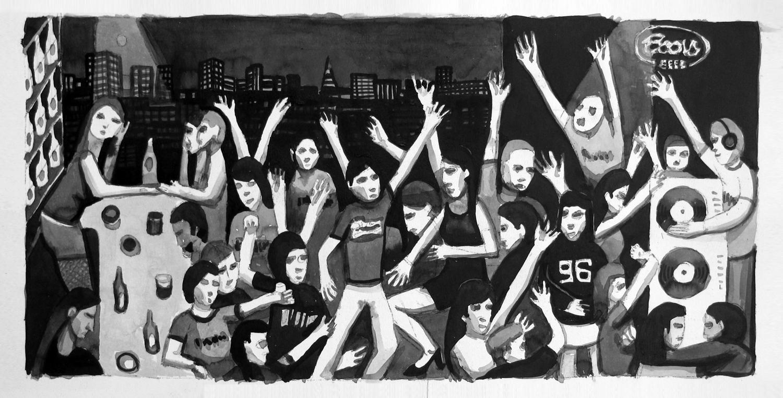 Sketch for 'Roppongi Nightclub' painting