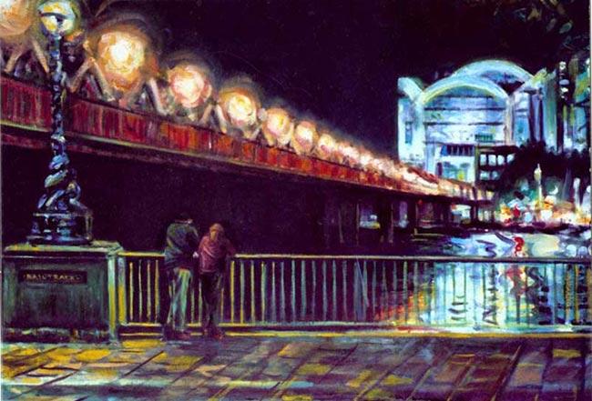 Hungerford Bridge at Night, London