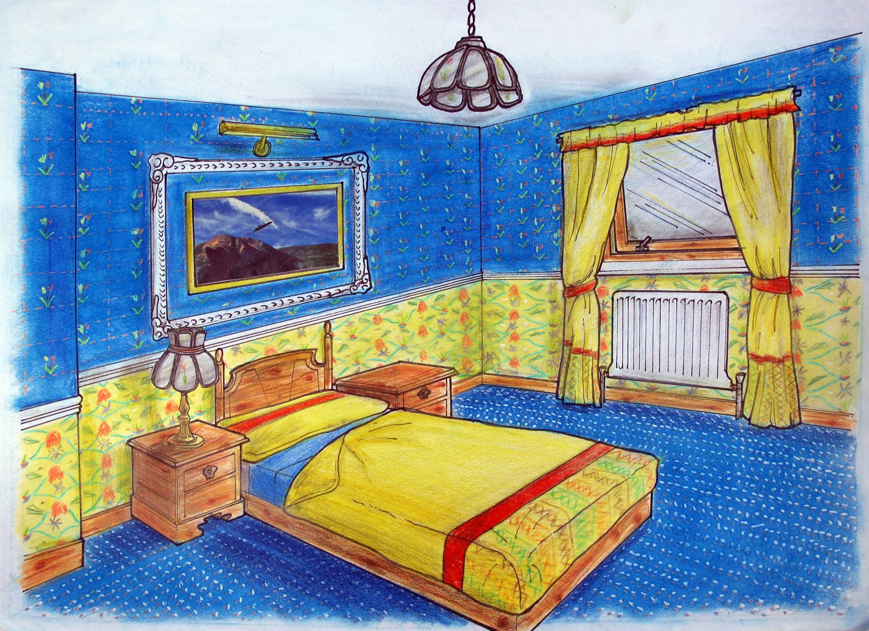 Imagined Blue Interior