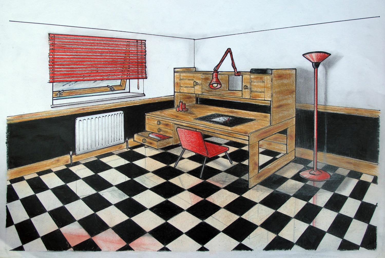 Imagined Checkered Interior