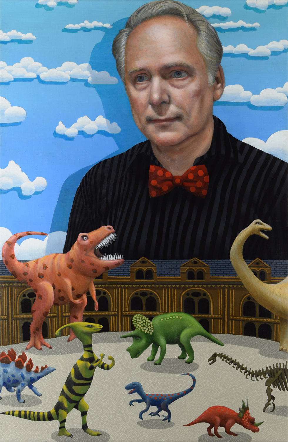 Director Nick Park and the Dinosaur Gallery