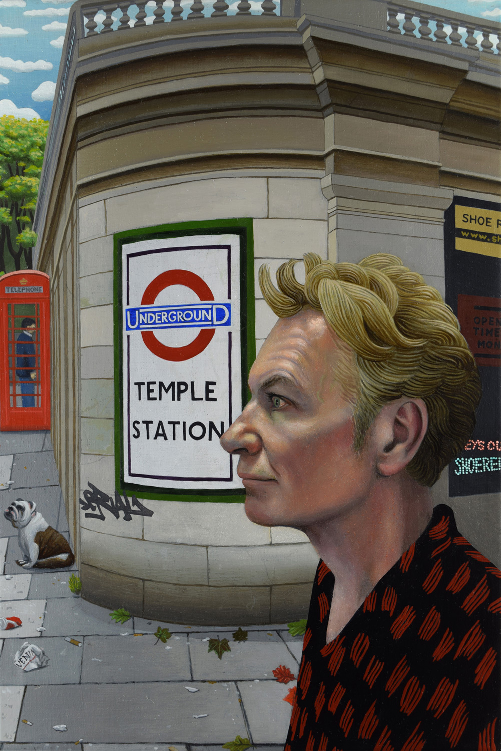 Film-maker Julien Temple and Temple Tube Station