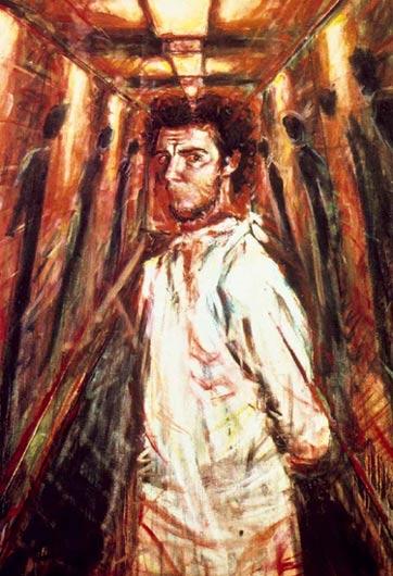 Self Portrait in Red Corridor