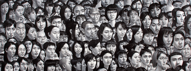 Carl Randall. 'Tokyo Portrait' painting (detail).