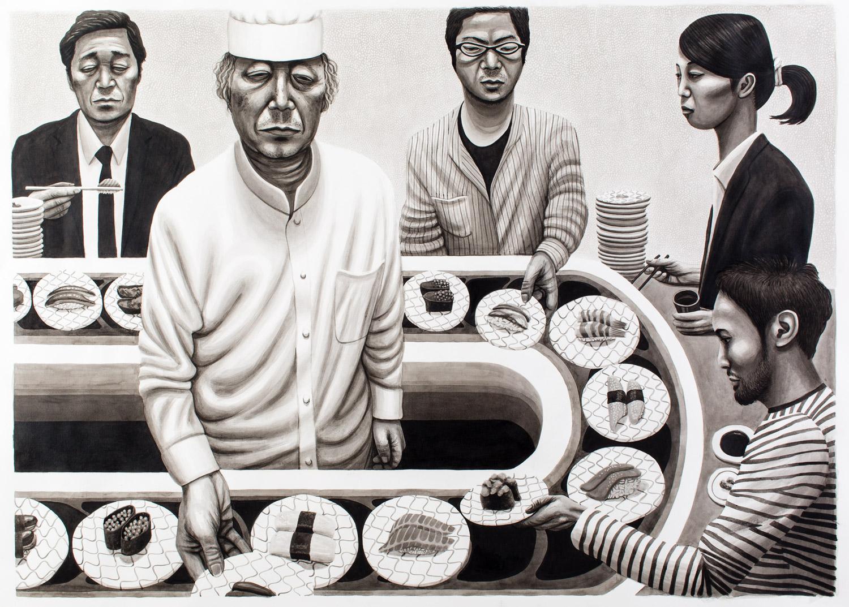 'Sushi' (ink study)