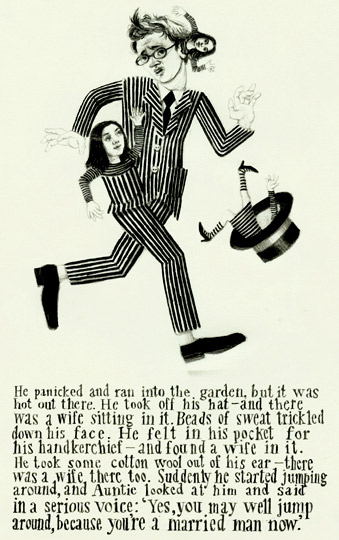 Illustration for a Nikolai Gogol story