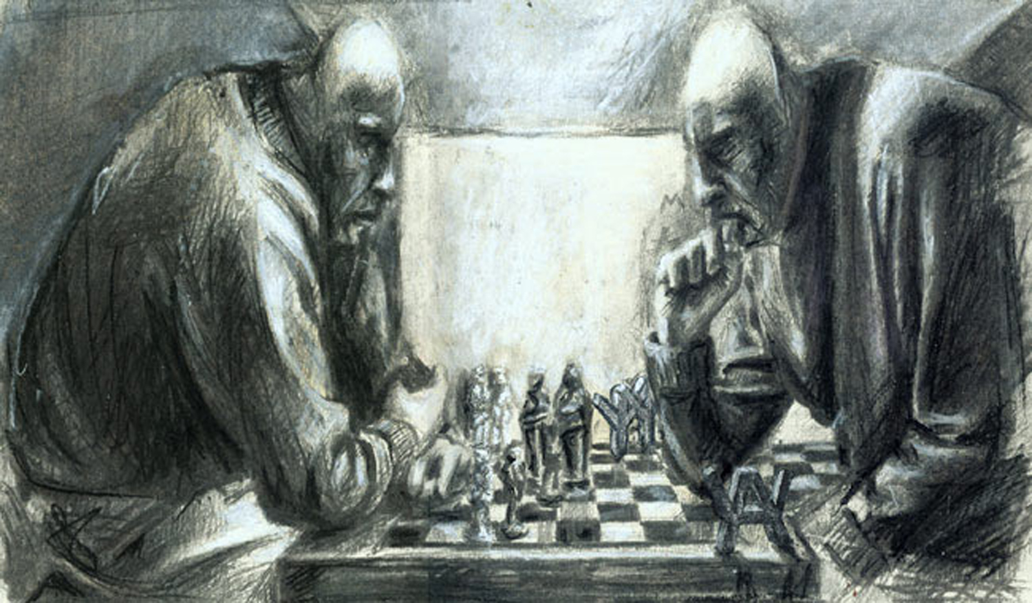 Study for 'Chess'